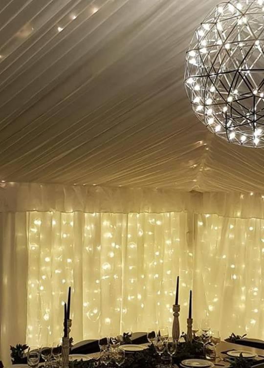 LED Ball Chandelier