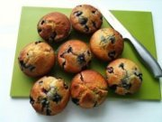 Blueberry Muffins on Green Board 1