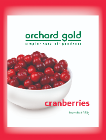 OrchardGold Cranberries 375g Front-530