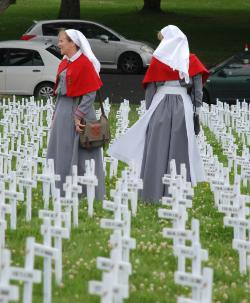 WWI nurses in the Field