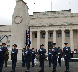 Soldiers in front of Cenotaph