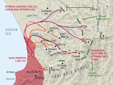 Map of Sari Bair offensive