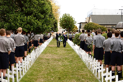 White crosses at Palmerston North Boys' High