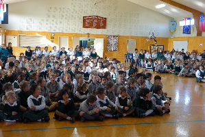 Children seated at Assembly