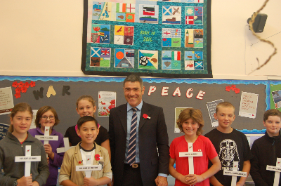 Hon. Nathan Guy and students