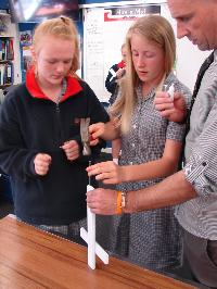 Students assemble the crosses