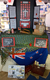 WWI display in Murray's Bay Primary School