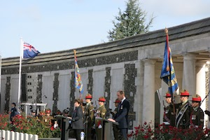 Ceremony at Passchendaele