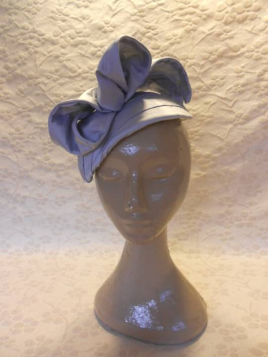 Silver grey silk bow $258