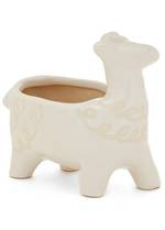 Llama Ceramic Planter Off White