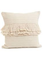 Cream Woven Cushion Cover w/Fringe November