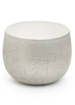 Metal White/Silver Bowl - Small