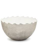 Metal White/Silver Bowl - Large
