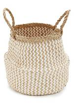 Chevron Seagrass Belly Basket