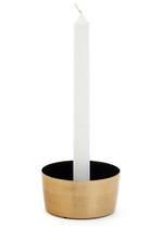 Adkins Metal Candle Holder - Black/Gold