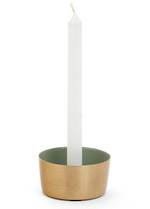 Adkins Metal Candle Holder - Sage/Gold