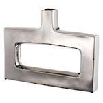Keyhole Vase Silver - Wide