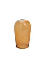 Large Bodinar Amber Glass Vase