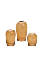 Large Bodinar Amber Glass Vase