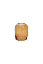 Small Bodinar Amber Glass Vase