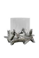 Silver Resin Antler Votive - Large
