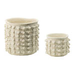Pom Pom Cement Planters - Set of 2