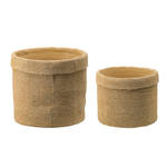 Woven Look Cement Planters - Set of 2 September