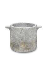 Hugo Rustic Cement Planter with Handles