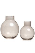 Franklyn Taupe Glass Vase - Small