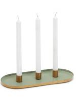 Greta Sage/Gold Metal Candle Holder