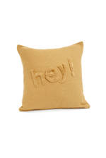 HEY Embroidered Cushion Cover
