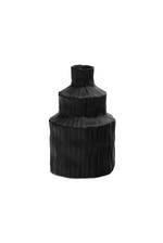 Black Laurentia Textured Vase