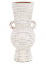 Pena White Terracotta Vase - Large