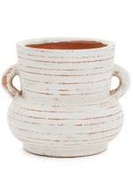 Pena White Terracotta Vase - Small