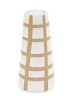 Perez Ceramic Grid Design Candle Holder