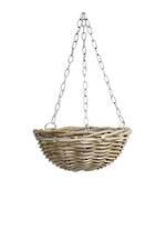 Natural Hanging Rattan Basket - Medium