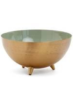 Rubio Sage/Gold Metal Bowl