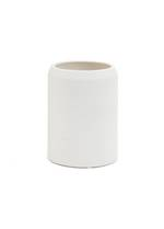 Shelby Stripe Ceramic Vase - White