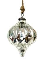Silver Modern Glass Bauble - Large