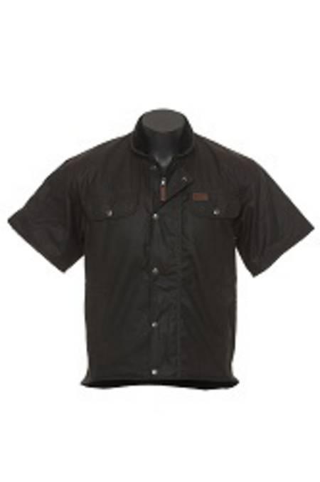 Outback Sleeved Oilskin Vest-6037