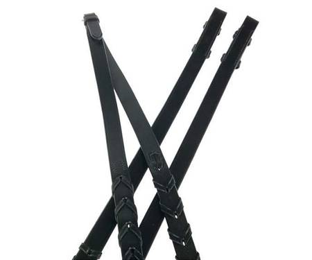 Collegiate Laced Leather Reins