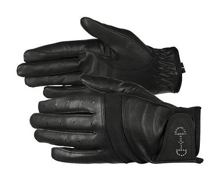 Horze Ladies' Leather Mesh Gloves
