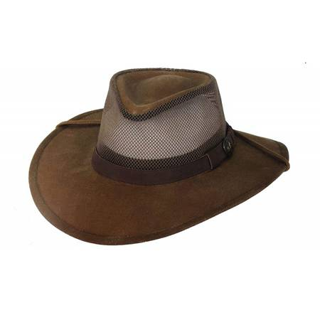 Outback Kodiak Oilskin Hat with Mesh - 1472