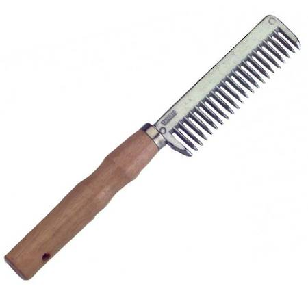 Roma Wood Handle Aluminium Pulling Comb