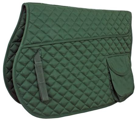 Flair Quilted Saddle Cloth with Pocket-SC125