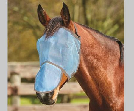 Saxon Buzz Away Fly Mask with Nose