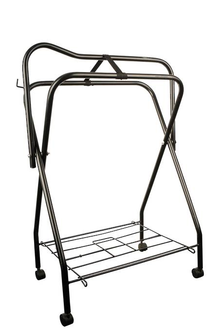 Roma Saddle Stand Rack With Rollers