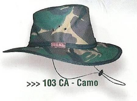Selke Camo Oilskin Hat