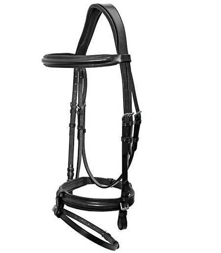 Platinum Shaped Head Padded Bridle