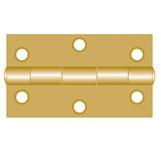 Brass Hinges - Fixed Pin